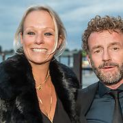 NLD/Amsterdam/20161008 - JFK Greatest Man 2016, schrijver Kluun en partner Nicole Disbergen