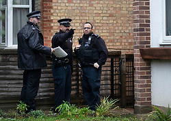 © Licensed to London News Pictures. 05/12/2018. London, UK. Police inspect another property believed to have been involved near a house in Barnet, north London where a 77 year old woman has died after a burglary. The victim called Police to her address on Bells Hill around 6.00pm yesterday, after two suspects forced entry and stole her property. During the phone call to the 999 operator the woman collapsed.  She died in hospital this morning. Photo credit: Peter Macdiarmid/LNP