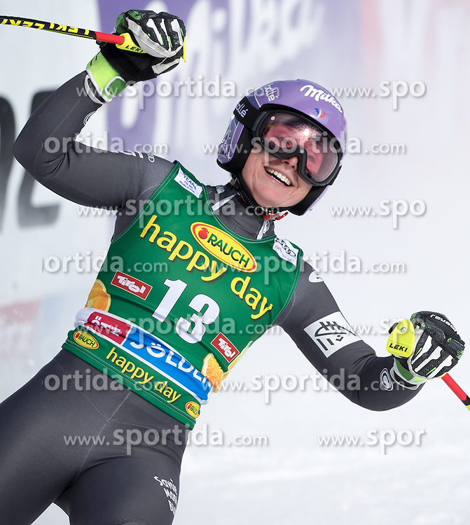 22.10.2016, Rettenbachferner, Soelden, AUT, FIS Weltcup Ski Alpin, Soelden, Riesenslalom, Damen, 2. Durchgang, im Bild Tessa Worley (FRA) // Tessa Worley of France reacts after her 2nd run of ladies Giant Slalom of the FIS Ski Alpine Worldcup opening at the Rettenbachferner in Soelden, Austria on 2016/10/22. EXPA Pictures © 2016, PhotoCredit: EXPA/ Johann Groder