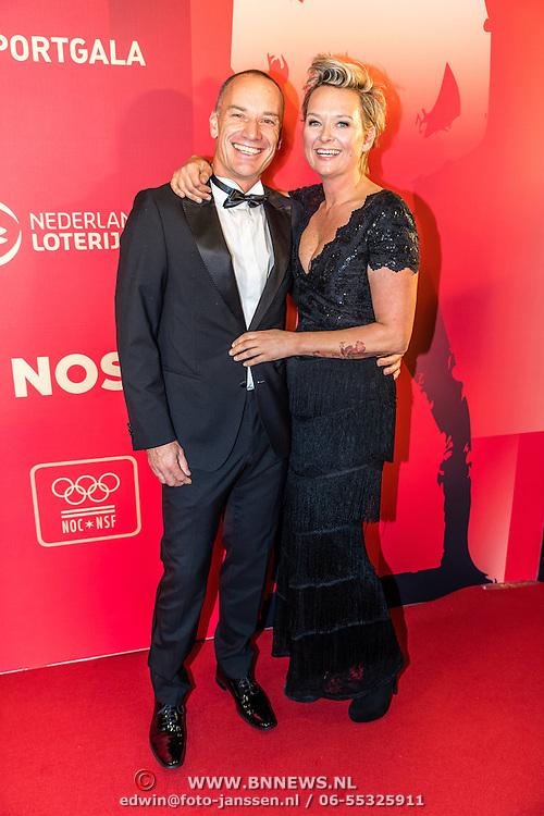 NLD/Amsterdam/20161221 - NOC*NSF Sportgala 2016, Helene Wiesenhaan en partner