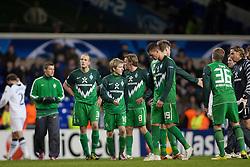 24.11.2010, White Hart Lane, London, ENG, UEFA CL Gruppe A Tottenham Hotspur  ( GBR ) vs Werder Bremen (GER) , im Bild haengende KOepfe nach dem Spiel Petri Pasanen ( Werder #03 ) Marko Marin ( Werder #10 ) Clemens Fritz ( Werder #08) Sandro Wagner ( Werder #19 ) Max Kruse ( Werder #36 ) Keeper Tim Wiese ( Werder #01)  EXPA Pictures © 2010, PhotoCredit: EXPA/ nph/  Gunn****** out ouf GER ******