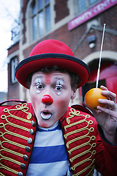 © under license to London News Pictures. 06/02/11 The annual clown service in memory of Grimaldi at the Holy Trinity Church in Dalston, London in 06/02/11. Photo credit should read: Olivia Harris/ London News Pictures