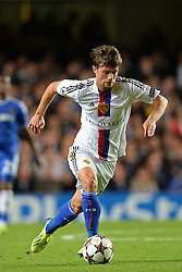 LONDON, ENGLAND - September 18: Basel's Valentin Stocker  during the UEFA Champions League Group E match between Chelsea from England and Basel from Switzerland played at Stamford Bridge, on September 18, 2013 in London, England. (Photo by Mitchell Gunn/ESPA)