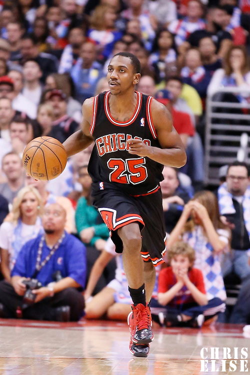 24 November 2013: Chicago Bulls point guard Marquis Teague (25) brings the ball upcourt during the Los Angeles Clippers 121-82 victory over the Chicago Bulls at the Staples Center, Los Angeles, California, USA.