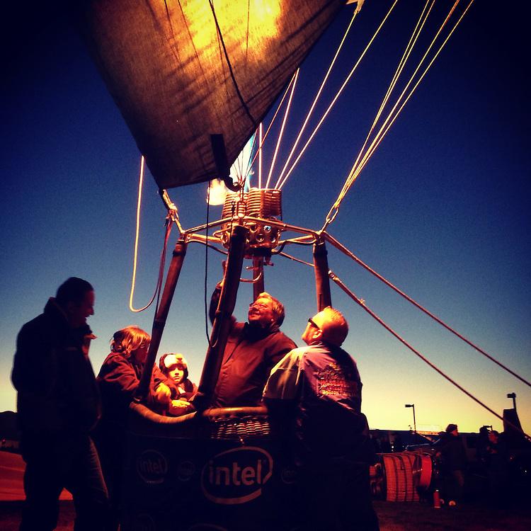 Evening Glow. Albuquerque International Balloon Fiesta, Albuquerque, New Mexico.