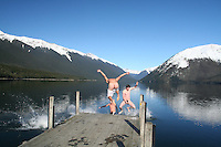 kiwi experience adventure travel hop on hop off backpacker bus new zealand tourism photos