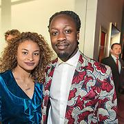 NLD/Amsterdam/20170930 - Orange Babies Gala 2017, Akwasi en partner