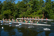 Henley on Thames, England, United Kingdom, 3rd July 2019, Henley Royal Regatta, First Race of the day, Thames Challenge Cup, Kingston RC B vs Wairau RC., NZL,  <br /> Henley Reach, [© Peter SPURRIER/Intersport Image]<br /> <br /> 09:00:01 1919 - 2019, Royal Henley Peace Regatta Centenary,