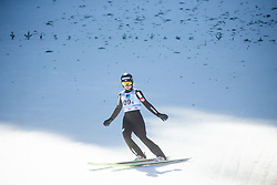 LUNDBY Maren (NOR) celebrates after Day 1 of FIS Ski Jumping World Cup Ladies Ljubno 2020, on February 22th, 2020 in Ljubno ob Savinji, Ljubno ob Savinji, Slovenia. Photo by Matic Ritonja / Sportida