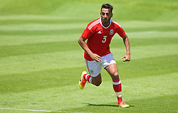 VALE DO LOBO, PORTUGAL - Sunday, May 29, 2016: Wales' Neil Taylor during a Wales v Wales training match on day six of the pre-UEFA Euro 2016 training camp at the Vale Do Lobo resort in Portugal. (Pic by David Rawcliffe/Propaganda)