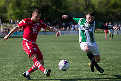 NEWTOWN, WALES - Sunday, May 6, 2018: Ryan Wignall of Connhas Quay Nomads and Malcom Melvin of Aberystwyth Town during the FAW Welsh Cup Final between Aberystwyth Town and Connahs Quay Nomads at Latham Park. (Pic by Paul Greenwood/Propaganda)