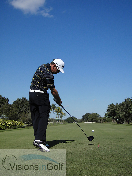 Louis Oosthuizen <br /> high speed swing sequence, March 2013<br /> Picture Credit:  Mark Newcombe / www.visionsingolf.com