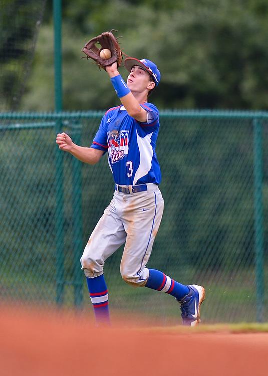 CHARLOTTESVILLE, VA - JUNE 22: USA Elite Baseball vs H3 on June 22, 2014 in Charlottesville, Virginia. (Photo by Drew Hallowell)