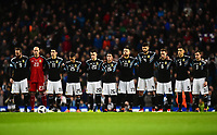 Football - 2018 International Friendly - Italy vs. Argentina<br /> <br /> The Argentina players acknowledge a minutes silence for Davide Astori, at the Etihad.<br /> <br /> COLORSPORT/RICHARD MARTIN-ROBERTS
