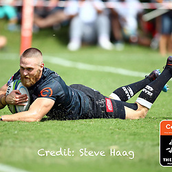 Try time Cameron Wright of the Cell C Sharks during The Cell C Sharks warm up match with the  Vodacom Bulls, at Ashton International College Albertina Way, Dolphin Coast  Ballito - Kwazulu- Natal, South Africa 9th February 2019 (Photo by Steve Haag)