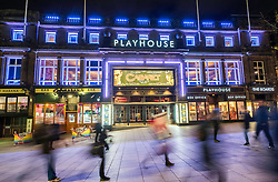Night view of exterior of Playhouse Theatre in Edinburgh, Scotland, United Kingdom