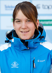 Lea Einfalt at Official photo of  Slovenia Cross-country Skiing team for  European Youth Olympic Festival (EYOF) in Liberec (CZE) at official presentation, on February  9, 2011 at Bled Castle, Slovenia. (Photo By Vid Ponikvar / Sportida.com)