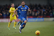 Andy Barcham of AFC Wimbledon during the Sky Bet League 2 match between AFC Wimbledon and Oxford United at the Cherry Red Records Stadium, Kingston, England on 27 February 2016. Photo by David Vokes.