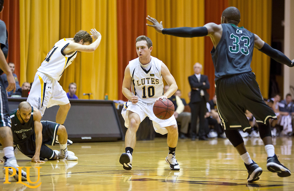 PLU Evergreen State on a men's basketball game on Wednesday, Dec. 10, 2014. (Photo/John Froschauer)