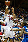 Cannen Cunningham #15 of the SMU Mustangs shoots the ball against the Memphis Tigers at Moody Coliseum on Wednesday, February 6, 2013 in University Park, Texas. (Cooper Neill/The Dallas Morning News)