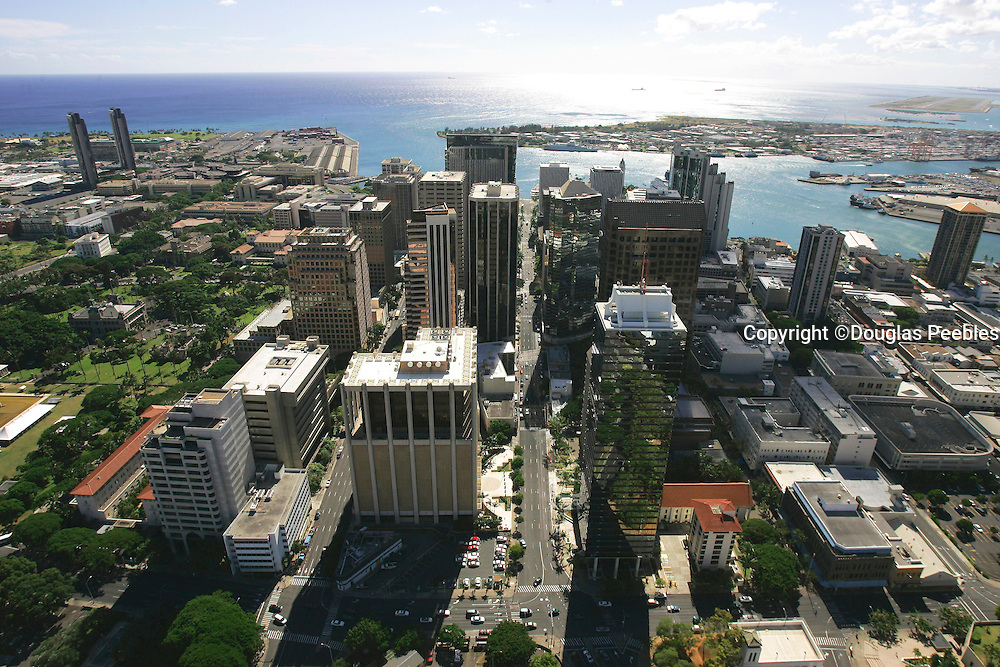 Downtown Honolulu, Oahu, Hawaii, USA