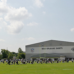 June 6, 2012; Metairie, LA, USA; A general view during a New Orleans Saints minicamp session at the team's practice facility. Mandatory Credit: Derick E. Hingle-US PRESSWIRE