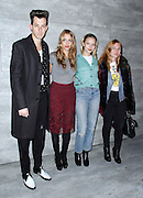 Mark Ronson, Charlotte Ronson, Annabelle Dexter-Jones and Josephine de la Baume attend the Charlotte Ronson presentation during the Mercedes-Benz Fall/Winter 2015 shows at the Pavilion in Lincoln Center in New York City, New York on February 13, 2015.