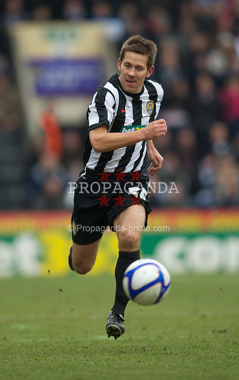 NOTTINGHAM, ENGLAND - Sunday, January 30, 2011: Notts County's Jon Harley in action against Manchester City during the FA Cup 4th Round match at Meadow Lane. (Photo by David Rawcliffe/Propaganda)