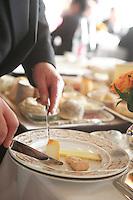 cheese service in a grand restaurant, Paris..Photograph by Owen Franken