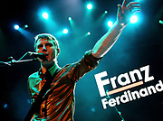 Alex Kapranos of Franz Ferdinand plays at TCT show, Albert Hall, 2005