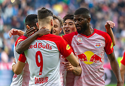 31.03.2019, Red Bull Arena, Salzburg, AUT, 1. FBL, FC Red Bull Salzburg vs FK Austria Wien, Meistergruppe, 23. Spieltag, im Bild Munas Dabbur (FC Red Bull Salzburg), Jerome Onguene (FC Red Bull Salzburg), Takumi Minamino (FC Red Bull Salzburg), Fredrik Gulbrandsen (FC Red Bull Salzburg) // during the tipico Bundesliga Master group, 23th round match between FC Red Bull Salzburg and FK Austria Wien at the Red Bull Arena in Salzburg, Austria on 2019/03/31. EXPA Pictures © 2019, PhotoCredit: EXPA/ Stefanie Oberhauser