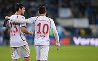 Fussball 1. Bundesliga 2012/2013: Relegation  Bundesliga / 2. Liga  TSG 1899 Hoffenheim  - 1. FC Kaiserslautern          23.05.2013 Florian Dick (li) und Albert Bunjaku (re, beide 1. FC Kaiserslautern)  sind nach dem Abpfiff enttaeuscht