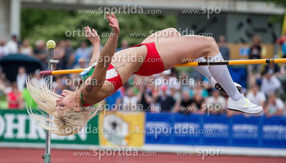 28.05.2016, Moeslestadion, Goetzis, AUT, 42. Hypo Meeting Goetzis 2016, Siebenkampf der Frauen, Hochsprung, im Bild Yana Maksimava (BLR) // Yana Maksimava of Belarus in action during the High jump event of the Heptathlon competition at the 42th Hypo Meeting at the Moeslestadion in Goetzis, Austria on 2016/05/28. EXPA Pictures © 2016, PhotoCredit: EXPA/ Peter Rinderer