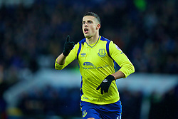 LEICESTER, ENGLAND - Boxing Day Monday, December 26, 2016: Everton's Kevin Mirallas celebrates scoring the first goal against Leicester City during the FA Premier League match at Filbert Way. (Pic by David Rawcliffe/Propaganda)
