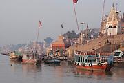 The Ganges river bank and ghats at Varanasi, Uttar Pradesh. India