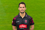 Head shot.  Lewis Gregory wearing the Somerset Royal London One-Day Cup kit at the media day at Somerset County Cricket Club at the Cooper Associates County Ground, Taunton, United Kingdom on 11 April 2018. Picture by Graham Hunt.