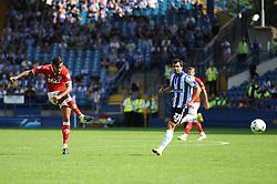 Marlon Pack of Bristol City takes a shot at goal - Mandatory byline: Dougie Allward/JMP - 07966386802 - 08/08/2015 - FOOTBALL - Hillsborough Stadium -Sheffield,England - Sheffield Wednesday v Bristol City - Sky Bet Championship
