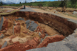 One of the damaged roads in the area. Five days after tropical cyclone Idai cut a swathe through Mozambique, Zimbabwe and Malawi, the confirmed death toll stood at more than 300 and hundreds of thousands of lives were at risk, officials said.