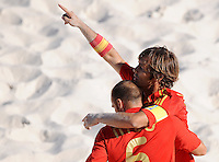 FIFA BEACH SOCCER WORLD CUP 2008 SPAIN - JAPAN   22.07.2008 AMARELLE (r) celebrates his goal with NICO (ESP).