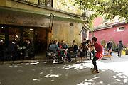 Istanbul Turkey cafe bar in the trendy Müeyyet Zade neighborhood