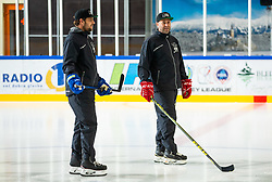 Anze Kopitar and Tomaz Razingar during practice at Hockey Academy of Anze Kopitar and Tomaz Razingar, on July 9, 2019 in Ice Hockey arena Bled, Slovenia. Photo by Vid Ponikvar / Sportida