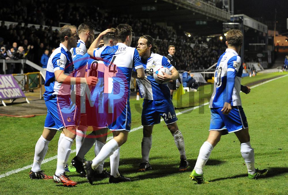 Bristol Rovers celebrate- Photo mandatory by-line: Neil Brookman/JMP - Mobile: 07966 386802 - 19/12/2014 - SPORT - football - Bristol - Memorial Stadium - Bristol Rovers v Gateshead  - Vanarama Conference