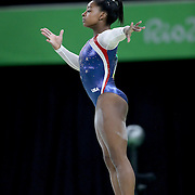 Gymnastics - Olympics: Day 6  Simone Biles #391 of the United States in action during her Balance Beam routine during her gold Medal performance in the Artistic Gymnastics Women's Individual All-Around Final at the Rio Olympic Arena on August 11, 2016 in Rio de Janeiro, Brazil. (Photo by Tim Clayton/Corbis via Getty Images)