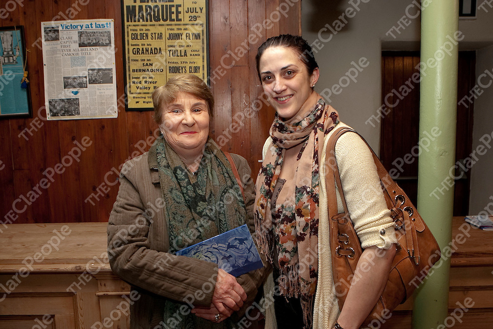 Pictured at the Book Launch in Loughnane's Bar Feakle Co Clare were: Helen Conway &amp; Catriona Naughton..<br /> Picture Credit  Brian Gavin Press 22