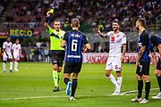 Italian referee Paolo Mazzoleni, yellow card during the Italian Serie A football match Inter Milan v Torino on August 26, 2018 at the San Siro Stadium in Milan, Italy, Photo Morgese - Rossini / ProSportsImages / DPPI