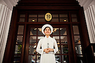 Young Vietnamese staff at the Sofitel Metropole 5 stars hotel, Hanoi, Vietnam, Southeast Asia