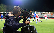 during the FA Cup match at Broadhurst Park, Moston<br /> Picture by Russell Hart/Focus Images Ltd 07791 688 420<br /> 09/11/2015