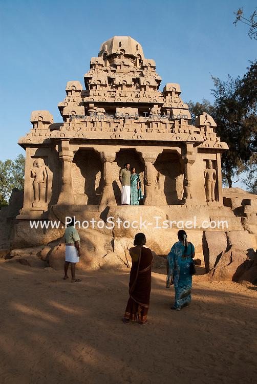 India, Tamil Nadu, Mahabalipuram, Five Rathas