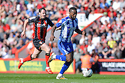 Jacques Maghoma during the Sky Bet Championship match between Bournemouth and Sheffield Wednesday at the Goldsands Stadium, Bournemouth, England on 18 April 2015. Photo by Adam Rivers.
