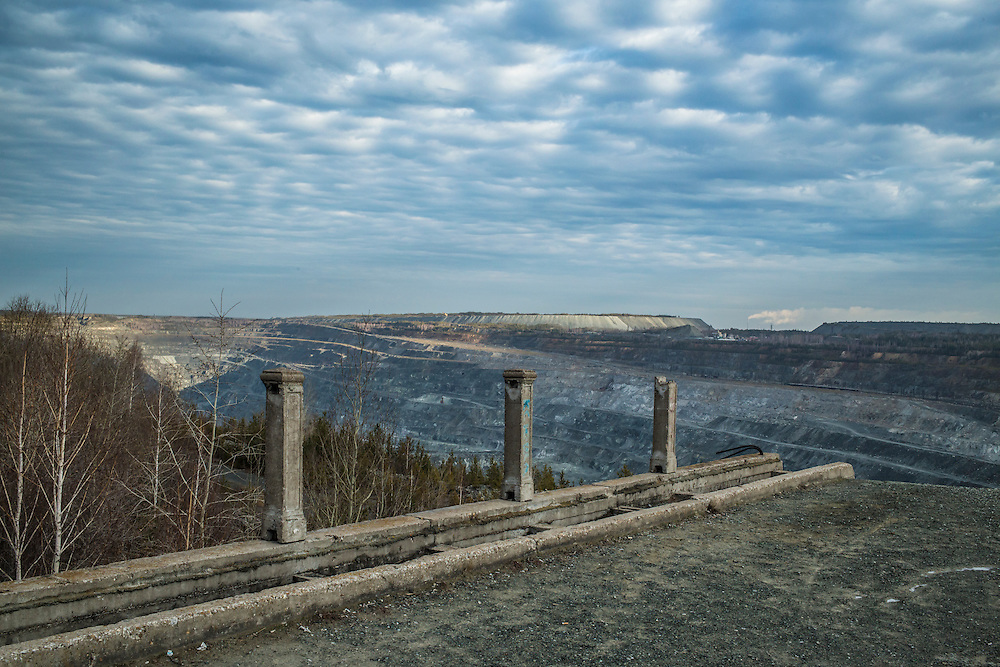 The Uralasbest asbestos mine on Thursday, November 14, 2013 in Asbest, Russia. The mine is among the largest producers of chrysotile asbestos in the world.